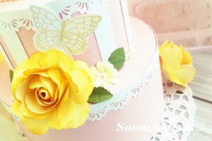 シモジマ名古屋店ペーパーフラワーケーキ